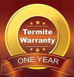 one year termite guarantee